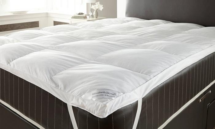 surmatelas plume d 39 oie groupon. Black Bedroom Furniture Sets. Home Design Ideas