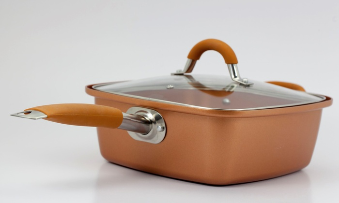 As Seen On Tv Square Copper Pan Pro Groupon