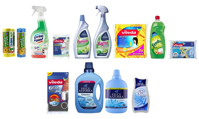 Kit pulizia casa 3 mesi groupon goods - Prodotti pulizia bagno ...