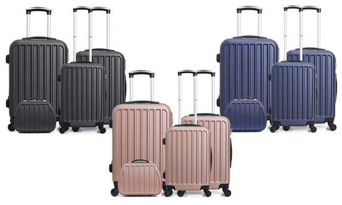 07a522f5ec5069 jusqu à 87% Vanity case et 3 valises ABS Hero   Groupon