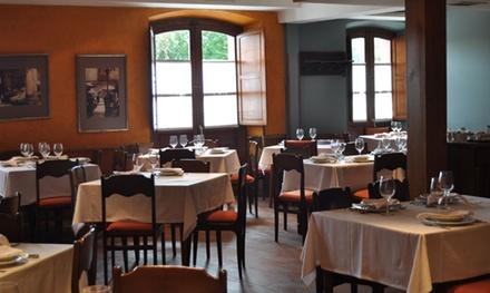 Menú asturiano para 2 personas con primero, segundo, principal, postre, pan y vino por 39,99 € en La Máquina
