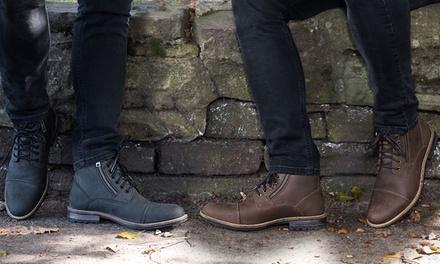 Gefütterte Stiefel für Herren aus Leder in der Farbe nach Wahl (67% sparen*)