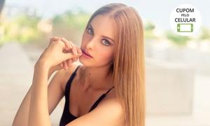 Glenda Cabeleireiros: Ombré hair, luzes + escova modeladora (opção com corte) na Glenda Cabeleireiros - Santa Mônica