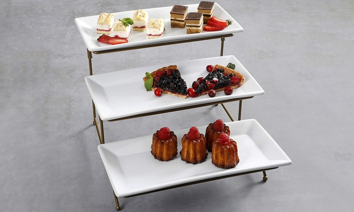 Serving Platter And Cake Tray Stand