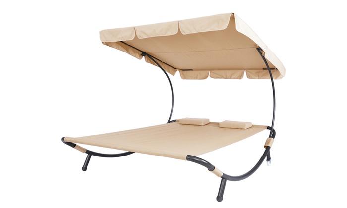Balancelle Double balancelle double avec canopée | groupon