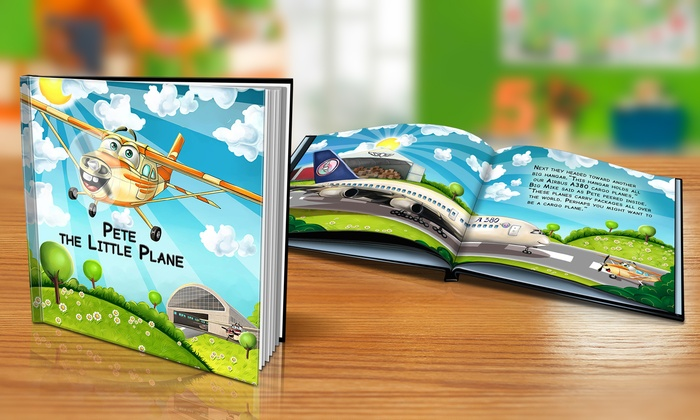"Dinkleboo: ""The Little Plane"" Softcover or Hardcover Personalized Kids Book from Dinkleboo (Up to 65% Off)"
