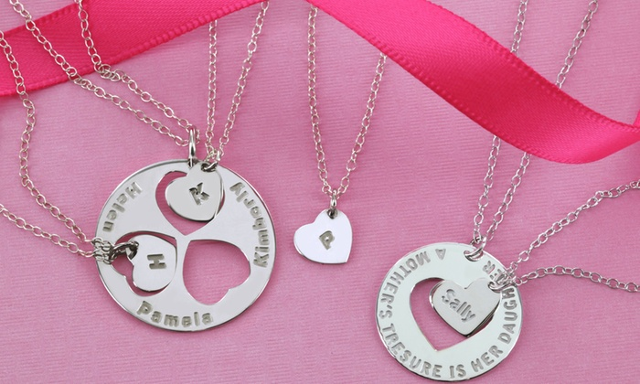 Monogram Online: Set of Two, Three, or Four Necklaces for Moms and Daughters from Monogram Online (Up to 62% Off)