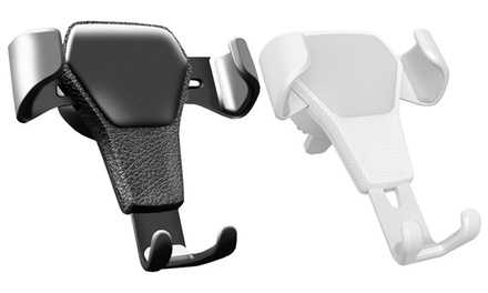 1 u 2 supports de téléphone pour la voiture, réglables en hauteur et largeur, finition imitation cuir