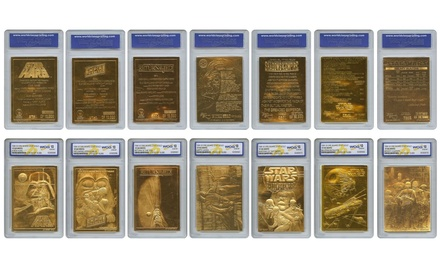 Star Wars Complete Gold Cards Set Mint (7-Piece)