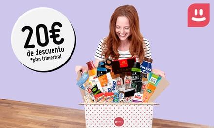 Suscripción mensual o trimestral a una Testabox con hasta 15 productos por caja y mes desde 8,99 €