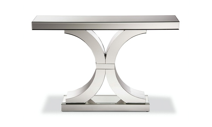 Mountrose Mirrored Console Table Baxton Studio Outlet