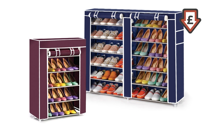 Canvas Shoe Storage Rack in Choice of Colours and Sizes from £9.98