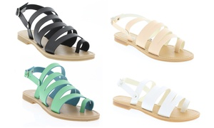 Shoes of Soul Women's Strap Flat Sandals