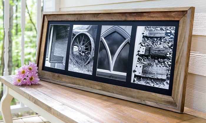 Frame the Alphabet: Rustic or Deluxe Barnwood Framed Name from Frame the Alphabet (Up to 57% Off)