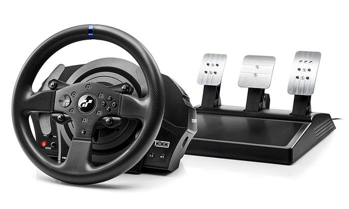 Groupon Goods Global GmbH: Volante e pedaliera T300 RS GT edition Thrustmaster con licenza ufficiale Gran Turismo a 339,90 € (15% di sconto)