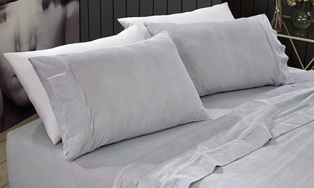 From $35 for 175 GSM Egyptian Cotton Flannelette Sheet Sets (Dont Pay up to $159.95)