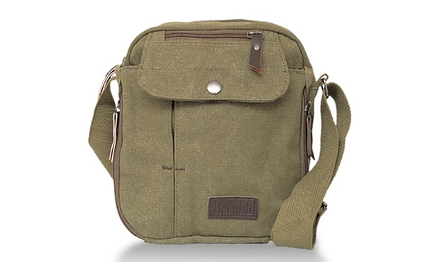 Multifunctional Unisex Canvas Cross Body Travel Bag: One ($19.95) or Two ($29.95)