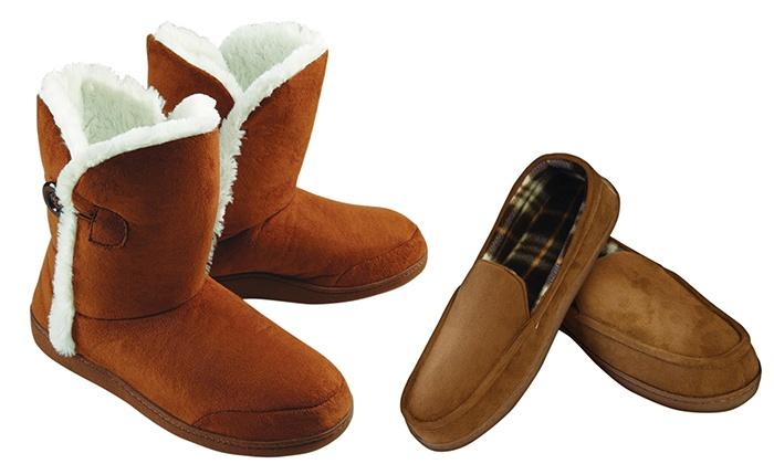 עסקה טובה - Merchandising (IL): נעלי בית נעימות ומחממות במרקם קטיפתי ובמגוון עיצובים לגבר ולאישה