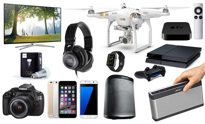 Mystery-Geschenk plus Gewinnchance auf iPhone 6S, Samsung TV, Apple TV, Sony PlayStation 4 und viel mehr