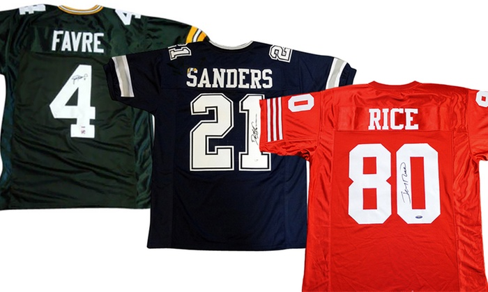 NFL Legends Autographed Jerseys