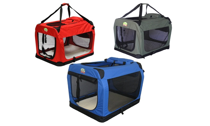Go Pet Club Portable Soft-Sided Pet Crate Carrier: Go Pet Club Portable Soft-Sided Pet Crate Carrier