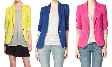 Womens Blazer with Pinstripe Lining (Six Colours) for €19.99