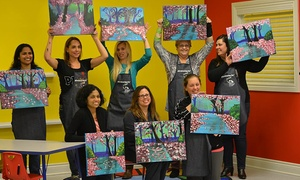 Abrakadoodle Art Studio: $169 for a BYOB Painting Party for Up to 10 People at Abrakadoodle Art Studio ($350 value)