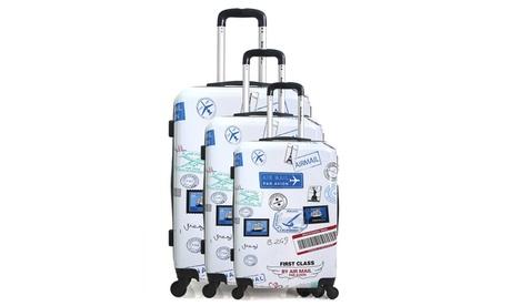 Set de 3 maletas con estampado de viajes Austin