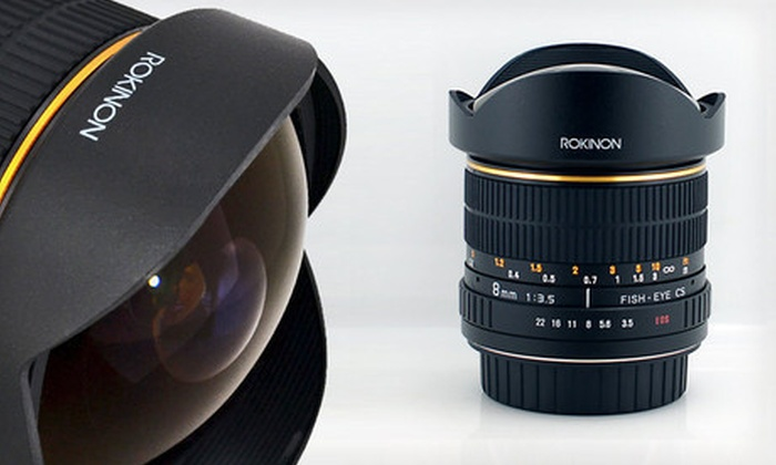 Rokinon Ultrawide Fisheye Lens: $249 for a Rokinon 8mm Ultrawide Fisheye Lens for Canon Cameras ($399 List Price). Free Shipping.