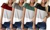 Round-Neck Striped Shirt
