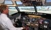 Vliegen in een flight-simulator