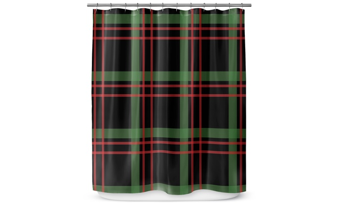 Christmas Plaid Shower Curtain