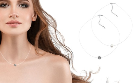 1 o 2 collares invisibles de nylon con perla Swarovski®