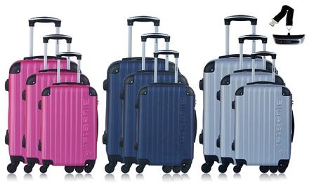 Set de 3 valises ABS Bucarest avec pèse bagage offert