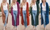 Reflection Women's Long Cardigan with Pockets. Plus Sizes Available.