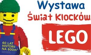 Wystawa Świat Klocków Lego: 600 m² wystawy klocków LEGO®: 2 wejścia na wystawę w tygodniu i w weekendy od 19,99 zł i więcej opcji (do -41%)