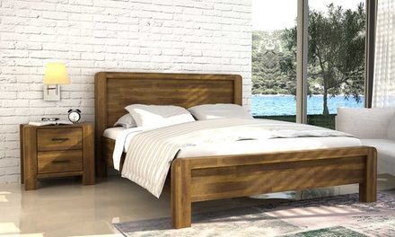 Chester wooden bed frame with optional mattress from for Bed frame and mattress deals