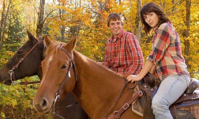 Pony To Go - Russell: One-Hour Trail Ride for Two or Four at Pony To Go (Up to 59% Off)