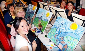 Wine and Canvas - San Francisco: $23 for One Painting Class from Wine and Canvas ($35 Value)