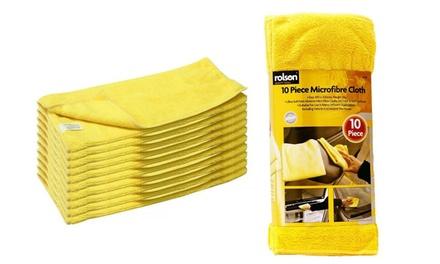 1 o 2 packs de 10 bayetas de microfibra multiusos Rolson desde 9,90 €