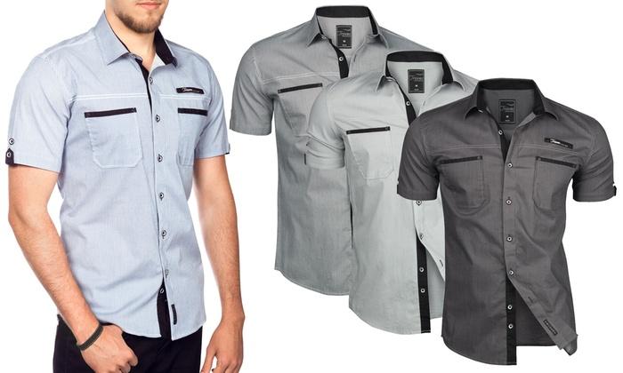 check out be3ba 135fc Bis zu 71% Rabatt Herren-Hemd mit kurzen Ärmeln | Groupon