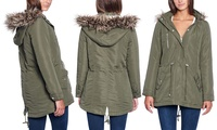 Glamsia Women's Regular and Plus Size Parka Jacket (Multiple Colors)