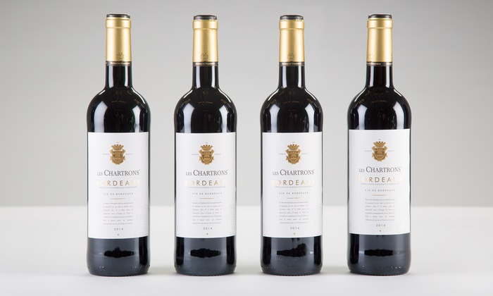 Barclays Wine: Four Bottles of Award-Winning 2014 Les Chartrons Bordeaux with Shipping Included from Barclays Wine ($135.91 Value)