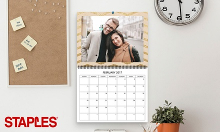 Same-Day Custom Calendars at Staples (Up to 68% Off)