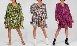 (Mode)  Robe imprimée léopard -5% réduction