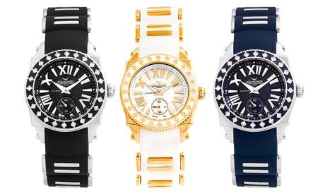 Reloj de la marca Aquaswiss adornado con 24 diamantes