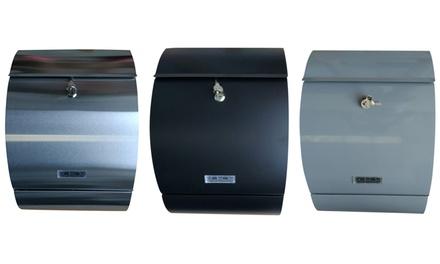 Jet-Line Design-Briefkasten XXL mit Sichtfenster in Schwarz, Silber oder Grau (Koln)