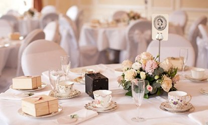 image for Wedding Package for 50 Day Guests and 100 Evening Guests at Buxton Palace Hotel Britannia (35% Off)