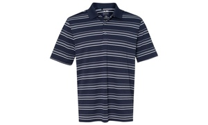 Adidas Men's Puremotion Stripe Jersey Polo