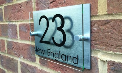 image for Personalised Handmade House Sign With Free Delivery from UK Sign Shop (Up to 63% Off)